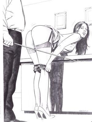 Endnu en ulydig hustru bukker sig for at modtage spanskrøret