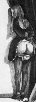 Stuepige i interessant uniform uden bagdel i skammekrogen