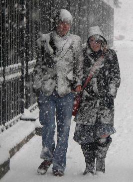 Nederdel i vintervejr